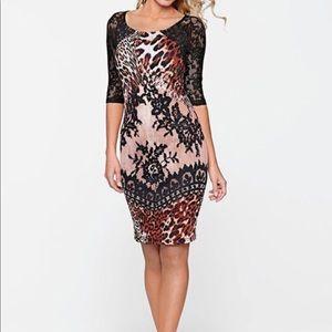 NWOT Brand new Women's leopard dress. Size 6.